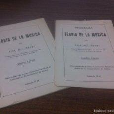 Libros de segunda mano: TEORÍA DE LA MÚSICA JOSÉ MARÍA GOMAR,4 CURSO 1959. Lote 64500802