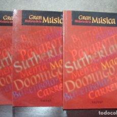 Libros de segunda mano: GRAN HISTORIA DE LA MUSICA. 3 LIBRETOS. SALVAT 2001.. Lote 69374113