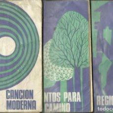 Libros de segunda mano: CANCIÓN MODERNA / CANTOS PARA EL CAMINO / REGIONALES. 3 VOLS. NARCEA DE EDICIONES, 1971. Lote 69719369