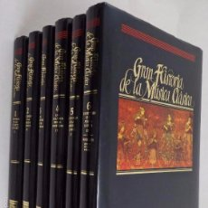 Libros de segunda mano: GRAN HISTORIA DE LA MÚSICA CLASICA 6 TOMOS. PLAZA & JANÉS. Lote 73827771