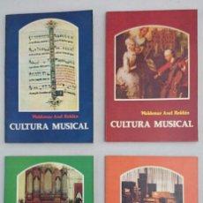 Libros de segunda mano: CULTURA MUSICAL 4 TOMOS. WALDEMAR AXEL ROLDÁN.. Lote 73828547