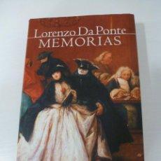 Libros de segunda mano: MEMORIAS. LORENZO DA PONTE. CÍRCULO DE LECTORES. Lote 77275213