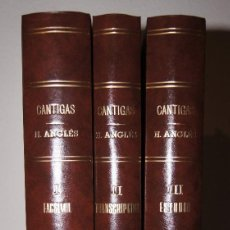 Libros de segunda mano - Las Cantigas de Alfonso X El Sabio, Higinio Anglés Barcelona 1958-1964 - 80143645