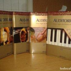 Libros de segunda mano: AUDITORIUM. CINCO SIGLOS DE MUSICA INMORTAL. 4 VOLUMENES. PLANETA. Lote 80861879
