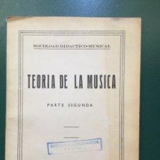 Libros de segunda mano: TEORÍA DE LA MÚSICA. Lote 82038502