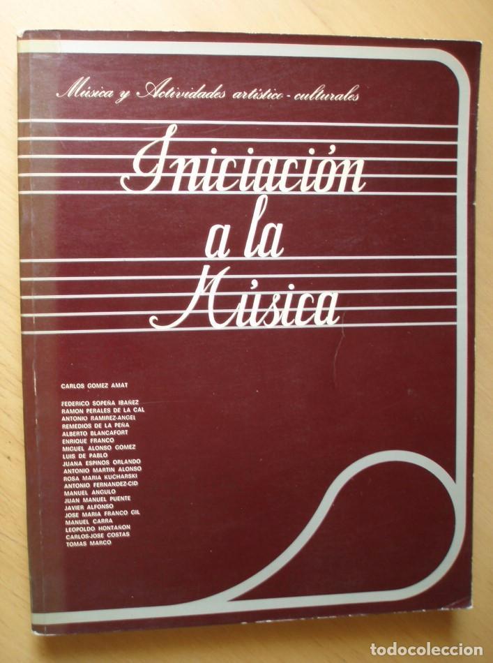 INICIACIÓN A LA MÚSICA. MÚSICA Y ACTIVIDADES ARTÍSTICO-CULTURALES. ED. SERVICIO DE PUBLICACIONES (Libros de Segunda Mano - Bellas artes, ocio y coleccionismo - Música)
