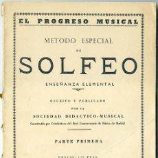Libros de segunda mano - Método especial de Solfeo. Enseñanza Elemental. Parte Primera. Madrid, 1959 - 85545960