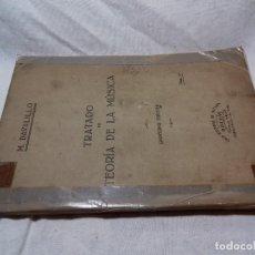 Libros de segunda mano: TRATADO DE TEORIA DE LA MUSCIA-M. DAVALILLO-CASA EDITORIAL DE MUSICA BOILEAU. Lote 85869280