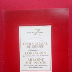Libros de segunda mano: LIBRETO OPERA ESTATAL DE DRESDE TEATRO DE LA ZARZUELA 1984 800 GRS 28 CMS. Lote 86265568