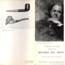 Libros de segunda mano: PAU CASALS : PROGRAMA EXPOSICIÓ RECORDS DEL MESTRE (EL VENDRELL, 1974). Lote 88786516
