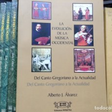 Libros de segunda mano: LA EVOLUCIÓN DE LA MÚSICA OCCIDENTAL. ALBERTO J. ALVAREZ. Lote 89533647
