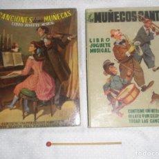 Libros de segunda mano: 2 LIBROS DE JUGUETE MUSICAL CANCIONES DE MIS MUÑECAS Y LOS MUÑECOS CANTAN 1950. Lote 91850910