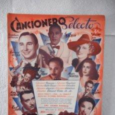 Libros de segunda mano: CANCIONERO SELECTO. MACHIN, BONET DE SAN PEDRO. EDICIONES BISTAGNE. 72 PÁGINAS. AÑOS 40. Lote 92134805