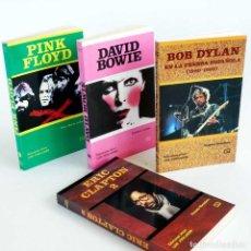Libros de segunda mano: LOTE 4 LIBROS PINK FLOYD, BOWIE, BOB DYLAN, ERIC CLAPTON. NUEVOS. Lote 92690975