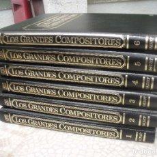 Libros de segunda mano: LOS GRANDES COMPOSITORES SALVAT 1990 COMPLETA VI TOMOS FOLIO 1700 PGS. Lote 94498194