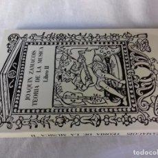 Libros de segunda mano: JOAQUIN ZAMACOIS TEORIA DE LA MUSICA-LIBRO II-DIVIDIDA EN CURSOS-EDITORIALLABOR 1987. Lote 94549851