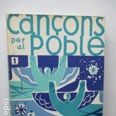 Libros de segunda mano: CANÇONS PER AL POBLE DE NADAL - EN CATALAN - EDITORIAL CLARET. Lote 95579099