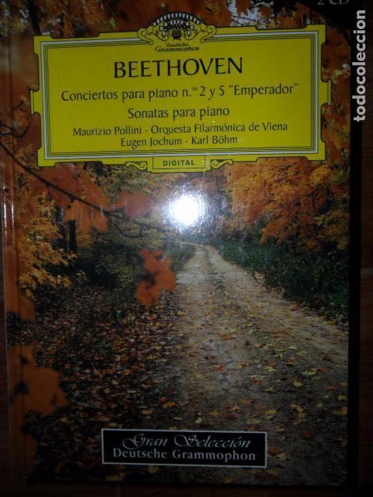 BEETHOVEN, CONCIERTOS PARA PIANO 2 Y 5, SONATAS PARA PIANO, 2 CD, PRECINTADO (Libros de Segunda Mano - Bellas artes, ocio y coleccionismo - Música)