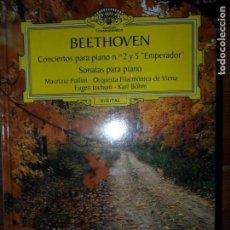 Libros de segunda mano - Beethoven, Conciertos para piano 2 y 5, Sonatas para piano, 2 CD, precintado - 97422467