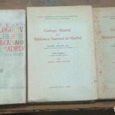 Libros de segunda mano: CATÁLOGO MUSICAL DE LA BIBLIOTECA NACIONAL DE MADRID - COMPLETA 3 VOLS - 1946 - 1951 - SIN USO.. Lote 97715895