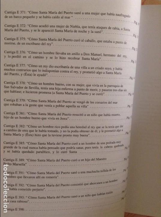Libros de segunda mano: CANTIGAS. DE EL PUERTO DE SANTA MARIA, DE ALFONSO X EL SABIO (AYUNTAMIENTO PUERTO DE SANTA MARIA) - Foto 3 - 98464959