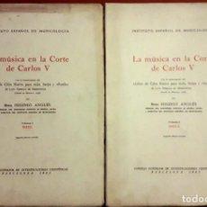 Libros de segunda mano: LIBRO DE CIFRA NUEVA PARA TECLA, ARPA Y VIHUELA 2 VOLS. (HIGINIO ANGLÉS, EDICIÓN 1965) SIN USAR.. Lote 101563479
