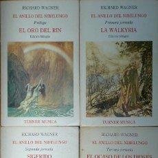 Libros de segunda mano: (MÚSICA) (ÓPERA) EL ANILLO DEL NIBELUNGO (4 TOMOS - COMPLETO) - RICHARD WAGNER. Lote 102252315