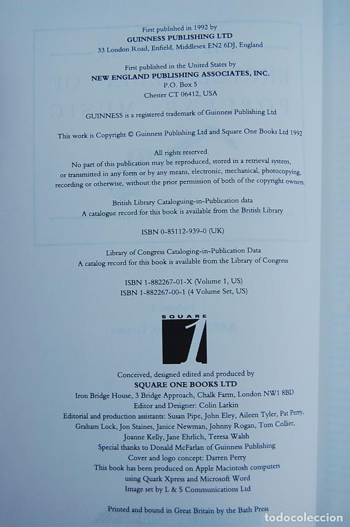 Libros de segunda mano: THE GUINNESS ENCYCLOPEDIA OF POPULAR MUSIC – ED. COLIN LARKIN (4 TOMOS) - Foto 8 - 102535951