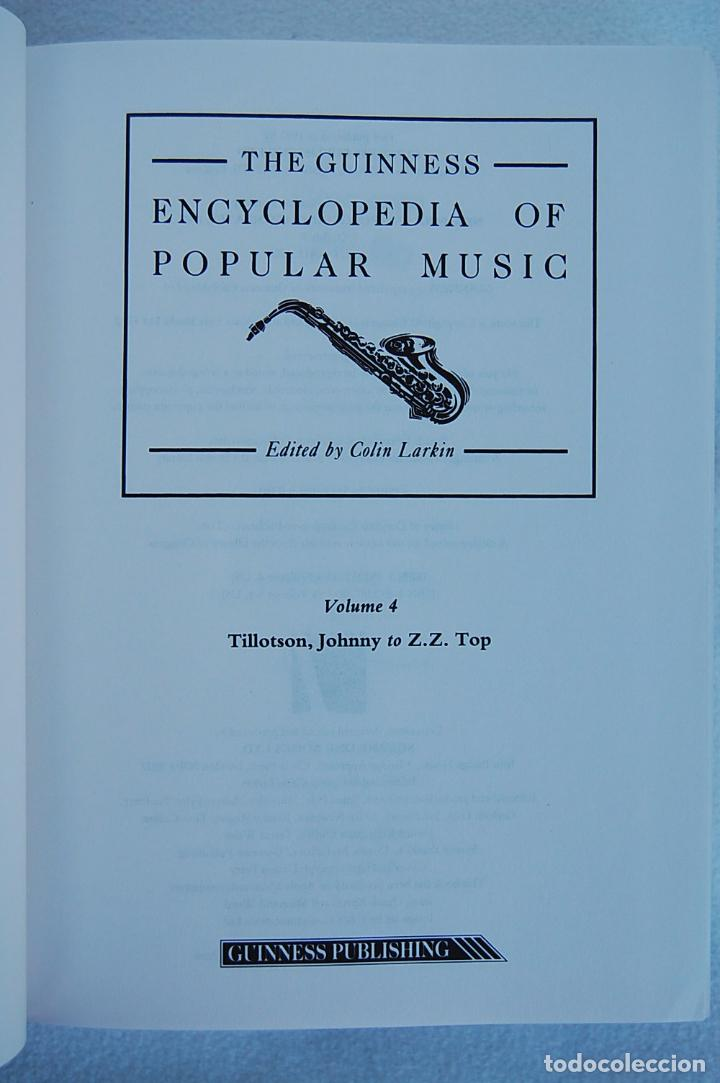 Libros de segunda mano: THE GUINNESS ENCYCLOPEDIA OF POPULAR MUSIC – ED. COLIN LARKIN (4 TOMOS) - Foto 20 - 102535951