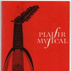 Libros de segunda mano: PLAISIR MVSICAL 1966 PATHE MARCONI 49 PÁGINAS FN12. Lote 103876527