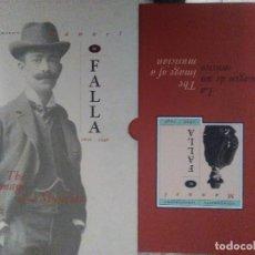 Libros de segunda mano: ICONOGRAFIA MANUEL DE FALLA ICONOGRAPHY 1876 1946 LA IMAGEN DE UN MUSICO CON ESTUCHE. Lote 104047351