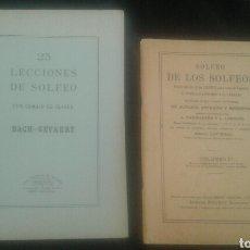 Libros de segunda mano: SOLFEO DE LOS SOLFEOS / 25 LECCIONES DE SOLFEO (CON CAMBIO DE CLAVES) ED. BOILEAU. Lote 104278480