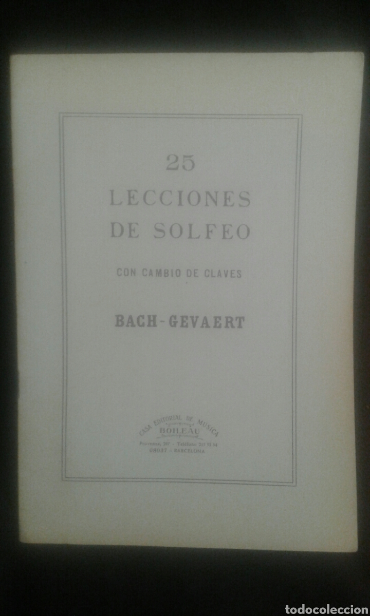 Libros de segunda mano: Solfeo de los solfeos / 25 lecciones de solfeo (con cambio de claves) Ed. Boileau - Foto 2 - 104278480