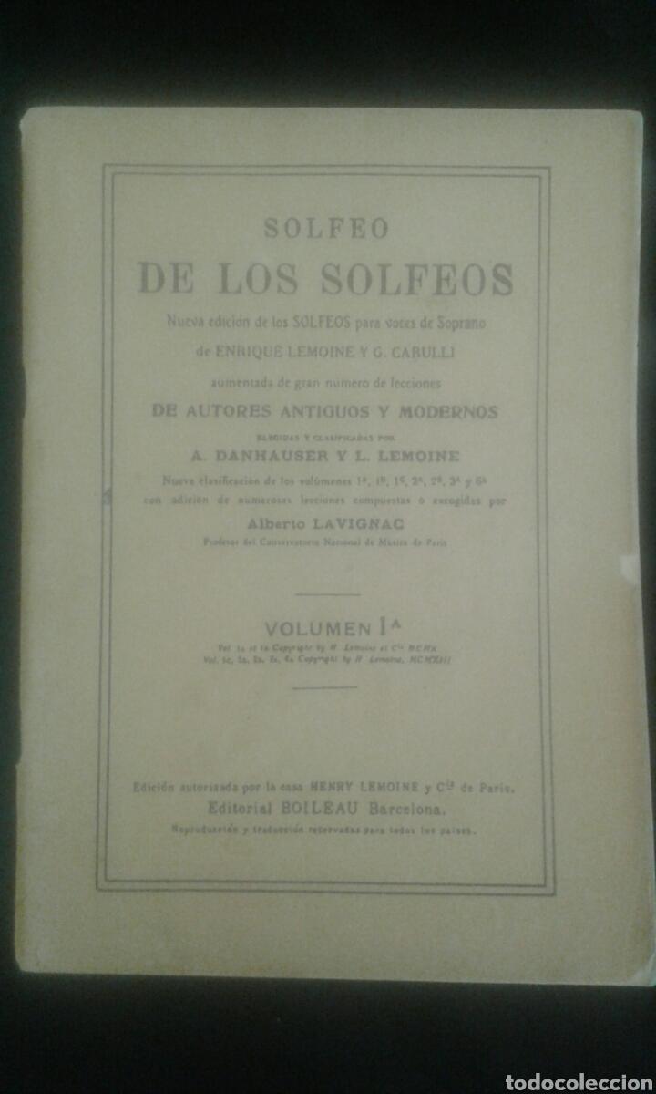 Libros de segunda mano: Solfeo de los solfeos / 25 lecciones de solfeo (con cambio de claves) Ed. Boileau - Foto 3 - 104278480