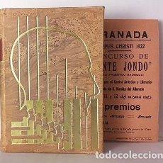 Libros de segunda mano: MANUEL DE FALLA Y EL CANTE JONDO. (MOLINA FAJARDO) GRANADA. TIRADA NUMERADA. GRABADO. ENCARTES. Lote 104920339