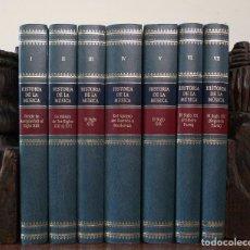 Libros de segunda mano: (MÚSICA) HISTORIA DE LA MÚSICA (VII TOMOS - COMPLETA) - VARIOS AUTORES. Lote 106684851