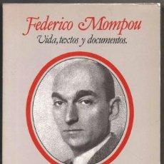 Libros de segunda mano: FEDERICO MOMPOU - VIDA, TEXTOS Y DOCUMENTOS - CLARA JANES *. Lote 109278507