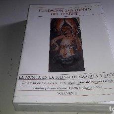 Libros de segunda mano: MÚSICA....LA MUSICA EN LA IGLESIA DE CASTILLA Y LEON....VOLUMEN II....2002.... Lote 112221183