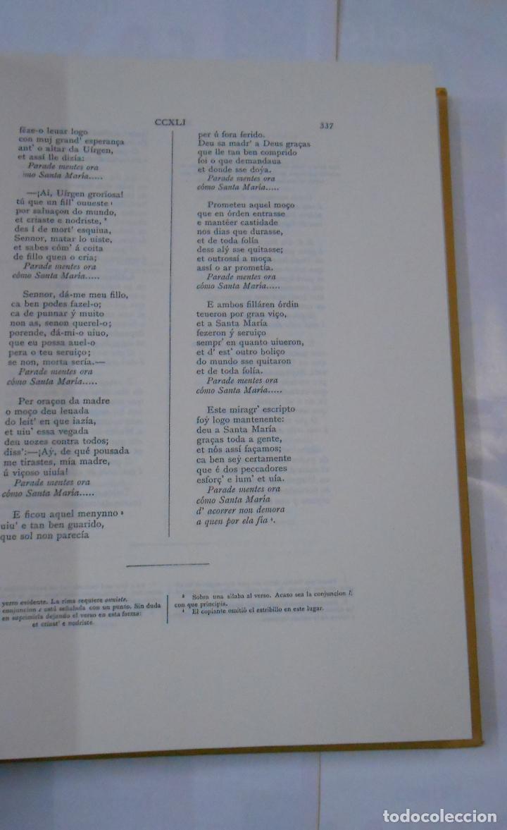 Libros de segunda mano: ALFONSO X EL SABIO. CÁNTIGAS DE SANTA MARÍA. 3 TOMOS. VOLUMEN I, II Y III. Arm21 - Foto 4 - 112648127