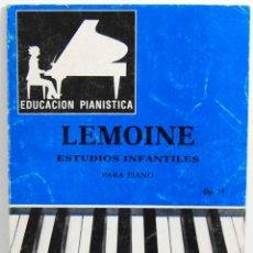 Libros de segunda mano - Lemoine. Estudios Infantiles para Piano Op. 37. Educación Pianística - 114454843
