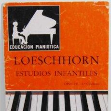 Libros de segunda mano - Loeschhorn. Estudios Infantiles para Piano Opus 181. 1er Cuaderno. Educación Pianística - 114455539