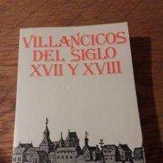 Libros de segunda mano: VILLANCICOS DEL SIGLO XVII Y XVIII. ED. MAGISTERIO ESPAÑOL 1978. Lote 114946494