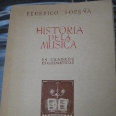 Libros de segunda mano: HISTORIA DE LA MUSICA - FEDERICO SOPEÑA. AÑO 1947.. Lote 115105291