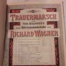 Libros de segunda mano: RICHARD WAGNER. TRAUERMARSCH. PARTITURAS. 358PÁGINAS.. Lote 115423859