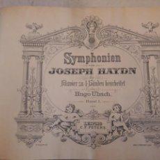 Libros de segunda mano: JOSEPH HAYDEN. SYMPHONIEN. SINFONÍAS. PARTITURAS ANTIGUAS ENCUADERNADAS.. Lote 115672342