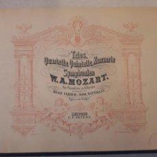 Libros de segunda mano: MOZART SCHUMANN GRIEG. PARTITURAS ANTIGUAS ENCUADERNADAS. PIANO. MÚSICA CLÁSICA.. Lote 115674591