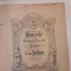Libros de segunda mano: L.V. BEETHOVEN. KONZERTE. CONCIERTO. PARTITURA ANTIGUA ENCUADERNADA. 199PÁGINAS.. Lote 115679934