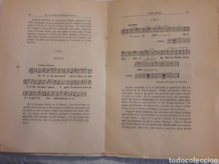 Libros de segunda mano: De la Cançó popular catalana. Lluis Millet. 1917. - Foto 3 - 116094326