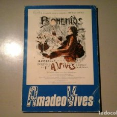 Libros de segunda mano: AMADEO VIVES. HOMENAJE VV.AA (XAVIER MONTSALVATGE, FEDERICO SOPEÑA...) RTVE. BOHEMIA. ZARZUELA.. Lote 116295055