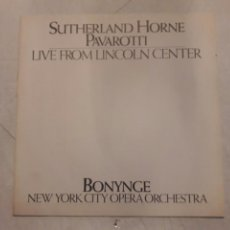 Libros de segunda mano: SUTHERLAND HORNE PAVAROTTI. LIVE FROM LINCOLN CENTER. NEW YORK OPERA ORCHESTRA. 1981. MANUAL.. Lote 116698266